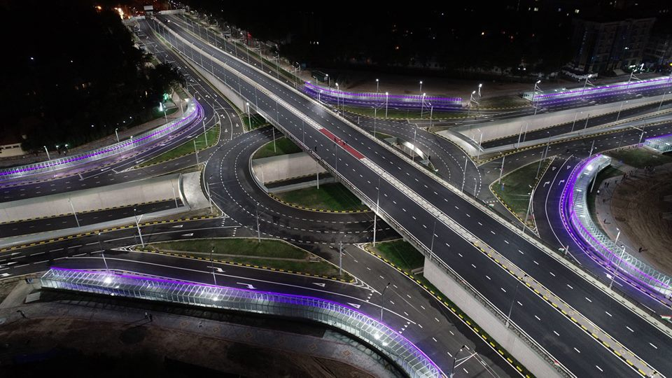 Three-level interchange in Tajikistan